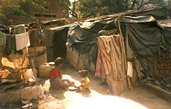 One of the slums and children there
