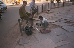 Street children start work at a very young age